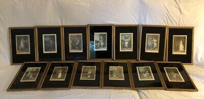 Cries Of London Full Set Of 13 Vintage Framed Prints Wheatley  • 50£