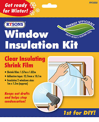 £2.65 • Buy Window Insulation Kit Double Glazing Shrink Film Draught Excluder Condensation