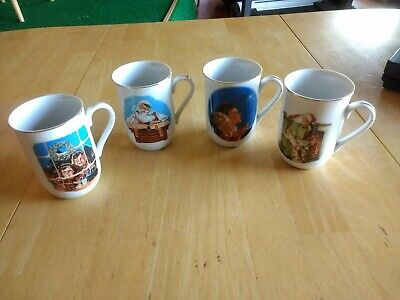 $ CDN31.50 • Buy 1987 Norman Rockwell Coffee Cups Mugs Museum Collections Inc Lot Of 4. Christmas