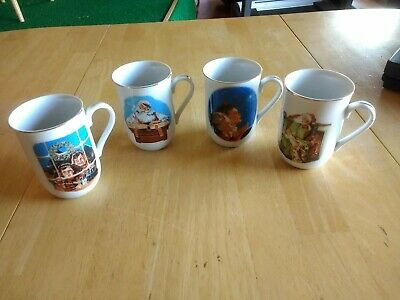 $ CDN31.65 • Buy 1987 Norman Rockwell Coffee Cups Mugs Museum Collections Inc Lot Of 4. Christmas