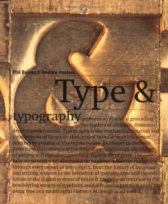 Type And Typography, Very Good Condition Book, Baines, Phil,Haslam, Andrew, ISBN • 11.66£