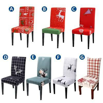 Dining Chair Cover Kitchen Slipcovers Christmas Party Banquet Xmas Seat Cover • 4.59£
