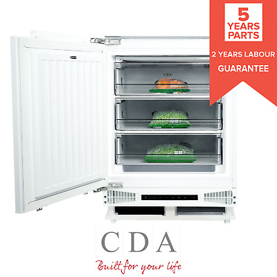 £398.99 • Buy CDA FW284 White 60cm 95L White Integrated Under Counter Freezer Energy Rating