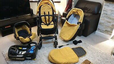 Graco EVO Trio Travel System Pram Set Stroller Baby Seat Iso Fix  Carry Cot • 85£