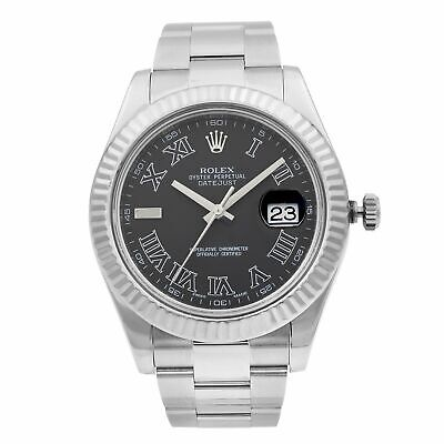 $ CDN10917.14 • Buy Rolex Datejust II 41 Steel 18K Gold Dark Grey Dial Automatic Men Watch 116334