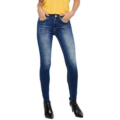 Only Blush Life Mid Skinny Ankle Pants Women´s Clothing Blue • 31.99£