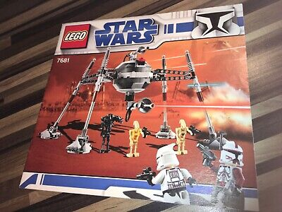 Lego Star Wars 7681 Clone Separatist Spider Droid Instructions Only.  • 5£