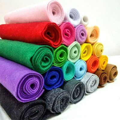 Wool Blend Craft Felt Fabric Material Acrylic Soft Plain Colour Art Sewing-94cm • 3.49£