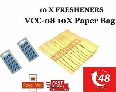 10 X Vax VCC-02 VCC-01 Genuine Vacuum Cleaner Commercial Dust Bags+FRESHENERS • 9.99£