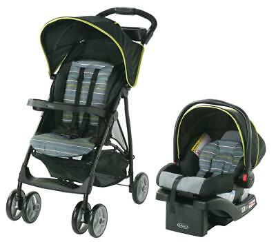 3in1 Travel System Stroller Car Seat Foldable Lightweight 50lbs Cap Xander Gray • 135.89£