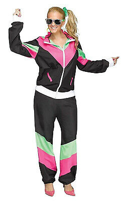 AU47.04 • Buy 80s Workout Sweat Suit Womens Adult Party Halloween Costume