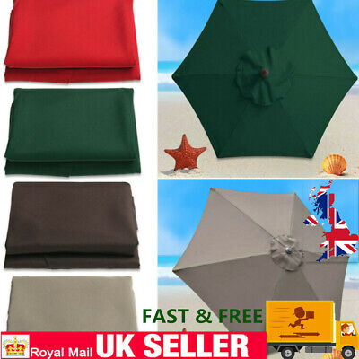 Fit For 210cm Width Parasol Replacement Fabric Garden Parasol Canopy Cover UK • 29.41£