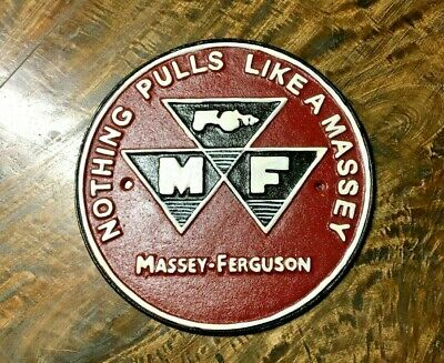 £35 • Buy Massey Ferguson Metal Sign / Hand Painted / Red / Wall Art / Poster / Plaque