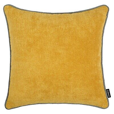 £7.99 • Buy Mustard Yellow And Grey Cushion Piping Ochre Pillow Case Sofa Cover 45cm 18in