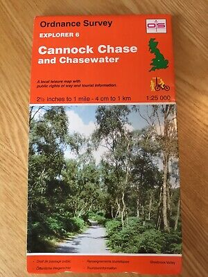 1995 Ordnance Survey Explorer Map 6 Cannock Chase And Chasewater (incl Stafford • 6.95£