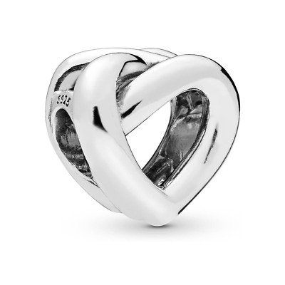 £9.99 • Buy Genuine Pandora ALE 925 Sterling Silver Knotted Heart Love Charm 798081