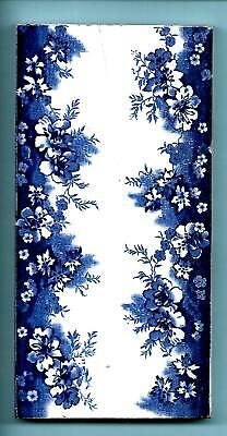 £36 • Buy 3 X Edwardian Blue And White Spacer Tiles C1905