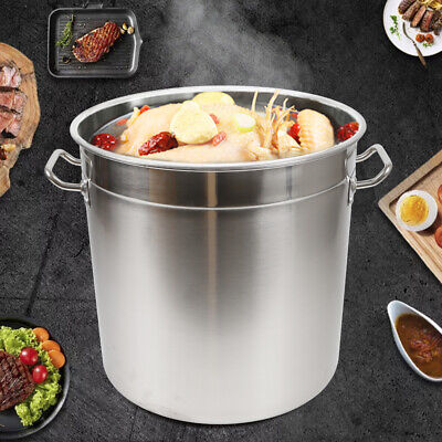 £57.08 • Buy Deep Stainless Steel Stock Pot Cater Cooking Stew Large Soup Stock 35 Litre