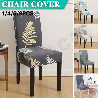 AU5.99 • Buy Stretch Dining Chair Covers Slipcover Spandex Wedding Cover 1/4/6/8Pcs Washable