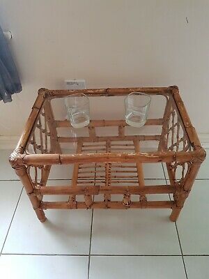 £59.99 • Buy Bamboo Coffe Table With Glass