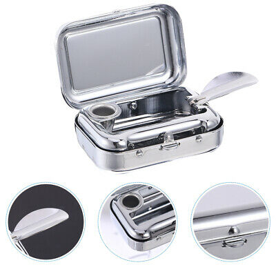 £5.17 • Buy Stainless Steel Square Pocket Portable Ashtray Metal Ash Tray With Lids