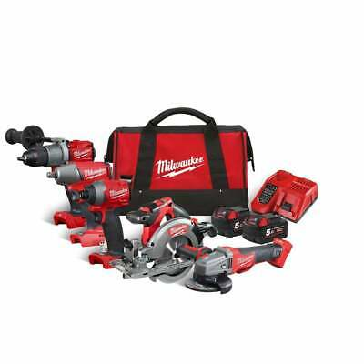Milwaukee M18FPP5M-502B 18v 5 Piece Cordless Tool Kit In Carrying Bag • 769£