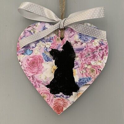 Yorkshire Terrier  Hanging Heart Wall Sign Dog Puppy Yorkie Gifts • 4.99£