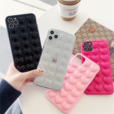 AU7.96 • Buy For IPhone 11 Pro XS Max XR 8 7 6 Plus Cute Heart Soft Girls Silicone Case Cover
