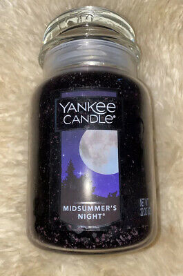 Imperfect Yankee Candle Midsummer's Night Large Jar 623g New ~See Details ~ • 25.99£