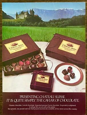 $ CDN12.79 • Buy 1982 Chateau Suisse Chocolates PRINT AD The Caviar Of Chocolate