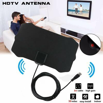 Indoor Digital TV HDTV Antenna Freeview HD Aerial Signal Receiver 100 Mile 1080P • 7.95£