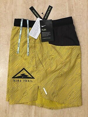 """Nike Flex Stride Nike Trail Mens 5"""" Brief Lined Running Shorts New With Tags M • 39.99£"""