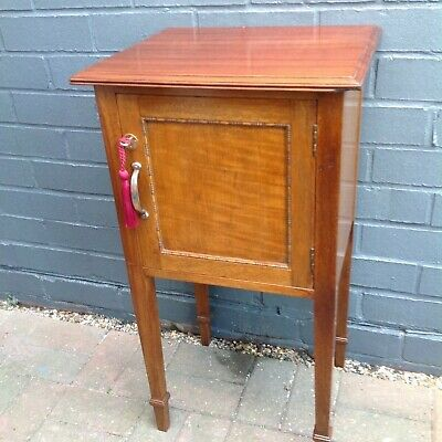 Waring And Gillows Edwardian Mahogany Bedside Cabinet/pot Cupboard • 95£