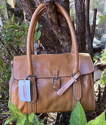 New  Clarks Women's Toronto Lake Leather Light Tan Hand Bag With Tags • 25£