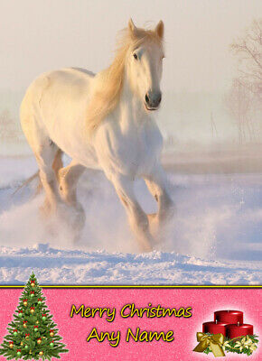£3.85 • Buy Personalised Horse Christmas Card - Free Delivery