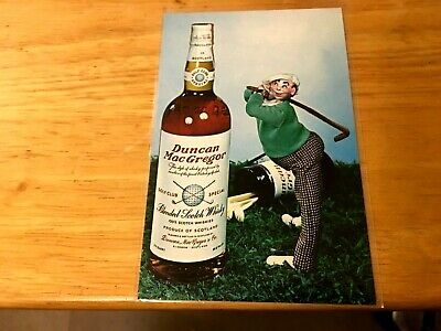 £10.86 • Buy Advertising POST Card DUNCAN MACGREGOR Scotch Whiskey GOLF THEME