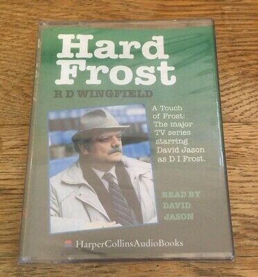 HARD FROST By RD Wingfield - Audiobook 2 Cassettes - Read By David Jason - NEW • 6.95£