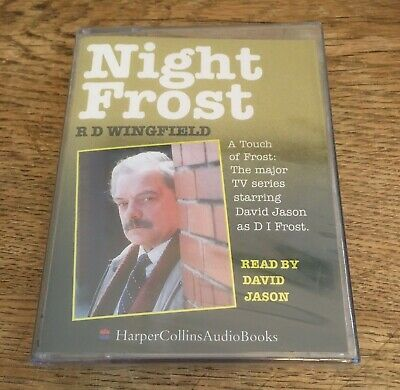 NIGHT FROST By RD Wingfield - Audiobook 2 Cassettes - Read By David Jason - NEW • 6.95£