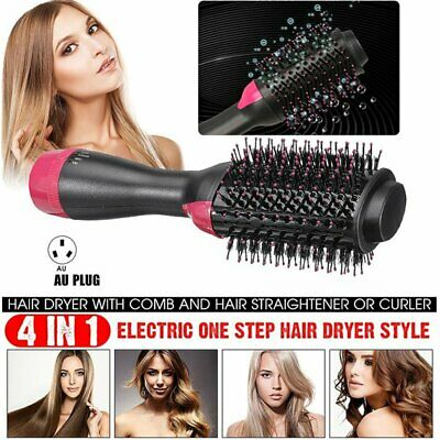 AU28.49 • Buy 4-in-1 One Step Hair Dryer Comb And Volumizer Pro Brush Straightener Curler 220V
