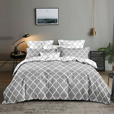 AU36 • Buy All Size Bed Ultra Soft Quilt Duvet Doona Cover Set Bedding Pillowcase Geometry