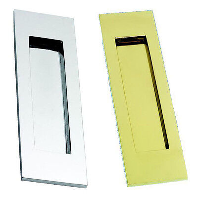 Vertical Letterplate / Letterbox - Polished Brass Or Polished Chrome • 28£