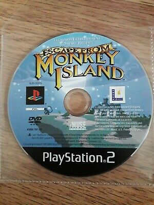 Escape From Monkey Island Sony PlayStation 2 PS2 Disc And Booklet. • 4.50£