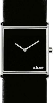 A.b.art Women's Quartz Watch With Black Dial Analogue Display And Black Leather  • 160£