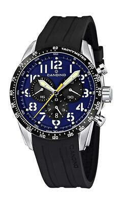 Candino Men's Quartz Watch With Blue Dial Chronograph Display And Black Plastic  • 230£