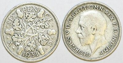 £1.95 • Buy 1928 To 1936 George V Silver Sixpence Second Design Your Choice Of Date / Year