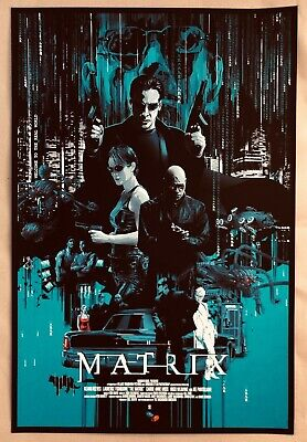 Sold Out The Matrix Screen Print By Vance Kelly - NT Mondo Poster - Only 1 Made! • 199£