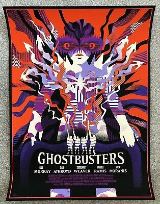 Ghostbusters Screen Print By WBYK We Buy Your Kids Mondo Poster - Edition Of 150 • 139£
