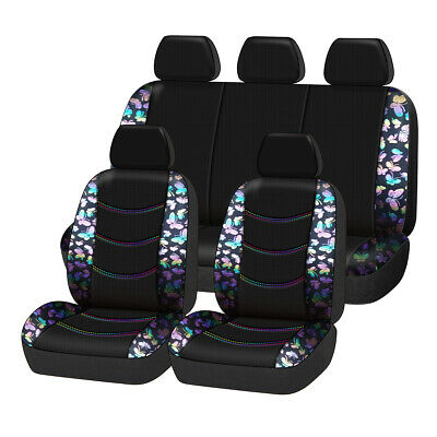 AU89.29 • Buy Universal Butterfly Car Seat Covers Full Set Car Seat Protector For Women Girls