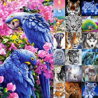 AU15.59 • Buy 5D Full Drill Diamond Painting Parrot Cross Stitch Embroidery Craft Kits Decor