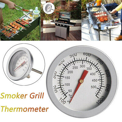 50-500 BBQ Smoker Grills Thermometer Temperature Gauge Stainless Steel • 4.19£